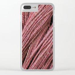 Pink Mauve Handspun Yarn Clear iPhone Case