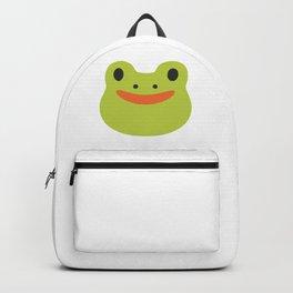 Happy Frog Face Emoji Backpack