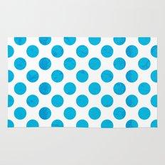 Blue Polka Dot Rug