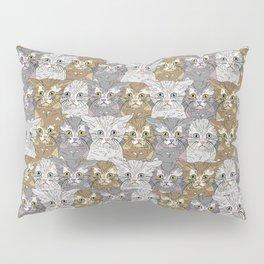 Kitties Galore Pattern Pillow Sham