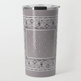 Classic Gray Bandana Travel Mug