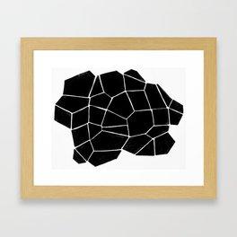 Connecting Shapes Framed Art Print