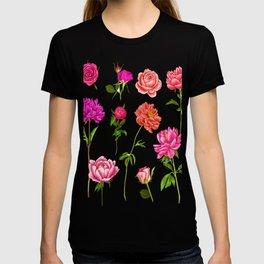 Vintage Botanical Floral Flower Tees T-shirt