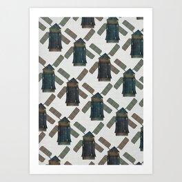 windmill print. Art Print