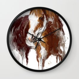 Paint Horse. Wall Clock