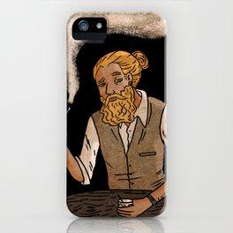 Man with beard iPhone Case