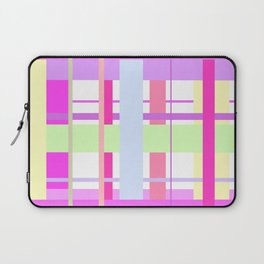Spring Tartan - cool pink pattern Laptop Sleeve