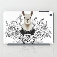 lama iPad Cases featuring Lama by Melanie Blanchard