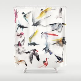 Free birds Shower Curtain