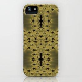 Goldblack Fractal Pattern iPhone Case
