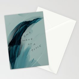 """""""One Wave At A Time"""" Stationery Cards"""