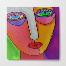 Mixed Emotions Abstract Digital Painting Metal Print