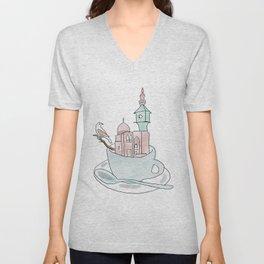 Cairo, Coffee, Birdhouse Unisex V-Neck