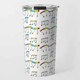 Colors and music--music,melody,fun,pleasure, rhythm, dance, art,sound,pitch,harmony,musical Travel Mug