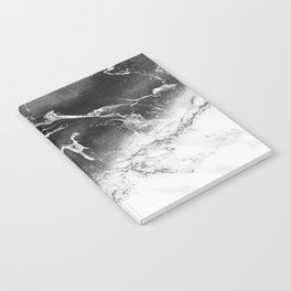 Modern black and white marble ombre watercolor color block Notebook