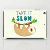 sloth iPad Cases featuring Sloth by Claire Lordon