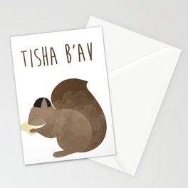 Tisha B'av Squirrel and Book of Lamentations Stationery Cards