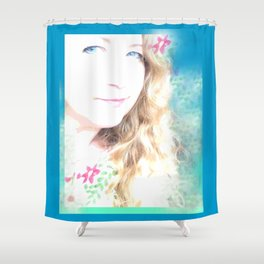 Holiday Dreams Self Portrait Shower Curtain