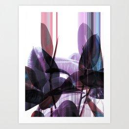 Tropical Glitches Art Print