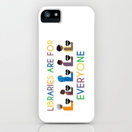 #BLM Libraries Are For Everyone iPhone Case