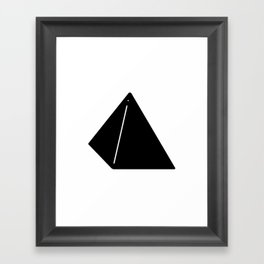Shapes Pyramid Framed Art Print