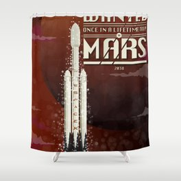 Spacex rocket to Mars Shower Curtain
