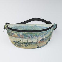 """Camille Pissarro """"Place Lafayette, Rouen""""(""""The Quays at Rouen"""") Fanny Pack"""