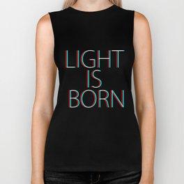 LIGHT IS BORN - GLITCH TSHIRT Biker Tank