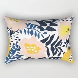 Outdoor: florals matching to design for a happy life Rectangular Pillow