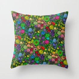 Prismatic Botanic Garden Throw Pillow