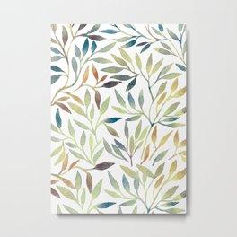 Leaves 5 Metal Print