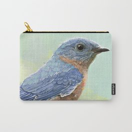 Eastern Bluebird In The Morning Carry-All Pouch