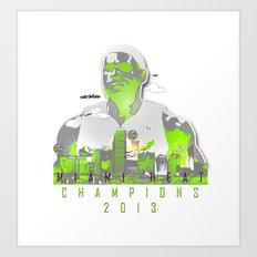 NBA CHAMPS MIAMI HEAT (LEBRON) Art Print