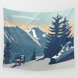 Mountain Sunrise (Pause II) Wall Tapestry