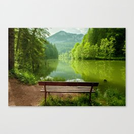 Red Lake with mountains, Romania Canvas Print