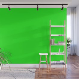 From The Crayon Box – Electric Lime - Bright Green - Neon Green Solid Color Wall Mural