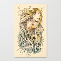 sleeping beauty Canvas Prints featuring Sleeping Beauty by Azrhon