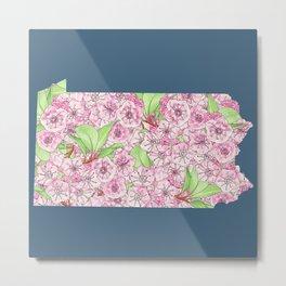 Pennsylvania in Flowers Metal Print