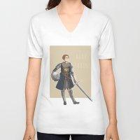 dark souls V-neck T-shirts featuring Dark Souls- Daphne by mio-mio