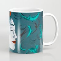 poison ivy Mugs featuring Poison Ivy by JezRebelle