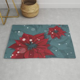 Poinsettias - Christmas flowers | BG Color II Rug