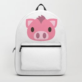 Pig Face Emoji Backpack