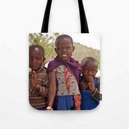 Maasai Children Tote Bag