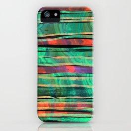 green&orange iPhone Case