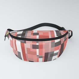Geometric abstract - line art Fanny Pack