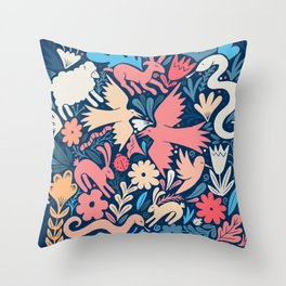 Nursery rhyme garden 002 Throw Pillow