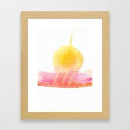 sunset melt Framed Art Print