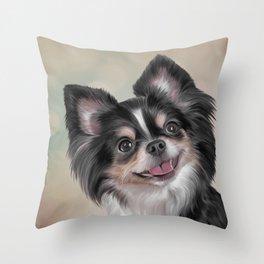 Drawing dog Chihuahua Throw Pillow