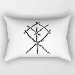 Rune Binding at Midnight Rectangular Pillow