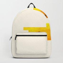 Yellow Banana Watercolor Geometric Fruit Hard Edge Pixel Art Backpack